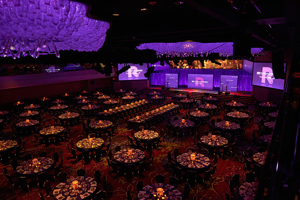 NRF Foundation Honors 2020 main seating and stage
