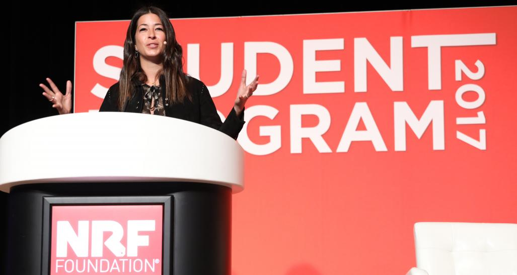 Fashion designer Rebecca Minkoff speaks at Student Program