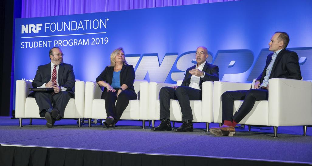 Supply chain panelists on stage at the 2019 Student Program