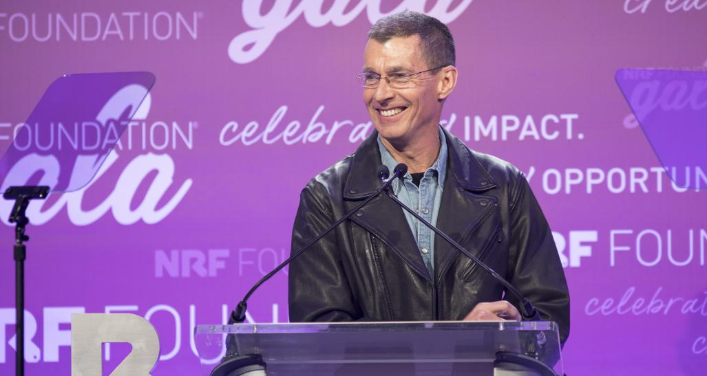 Chip Bergh speaking at the 2019 NRF Foundation Gala