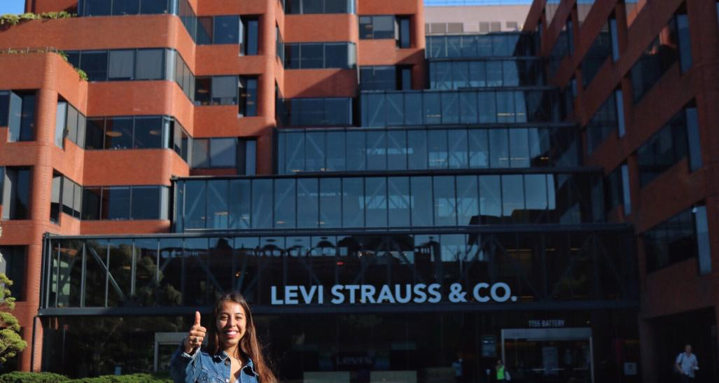 Student Faith Knox interning for Levi Strauss & Co.