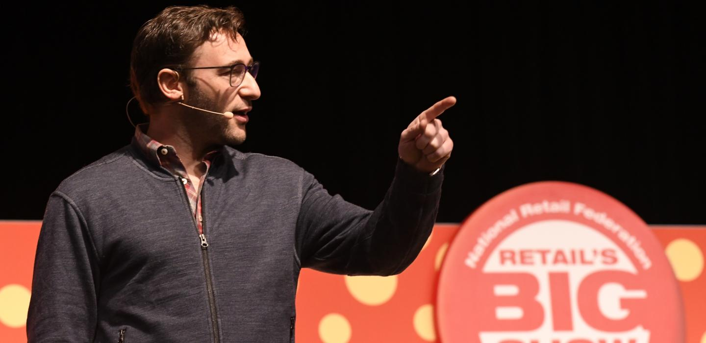 Simon Sinek speaks at Retail's BIG Show Student Program 2017