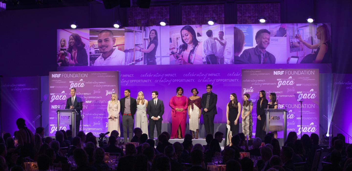 2019 Student Challenge Finalists on stage at the NRF Foundation Gala