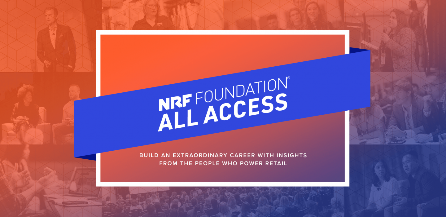 NRF Foundation All Access orange background