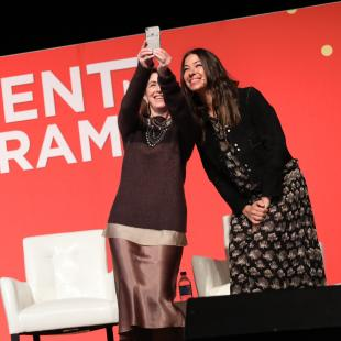 Karen Katz and Rebecca Minkoff take stage selfie
