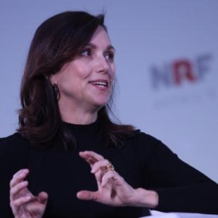 Beth Comstock, a former vice chair at GE, speaking at Big Show 2018