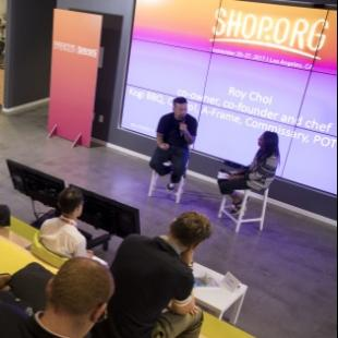 Roy Choi talking at Shop.org 2017