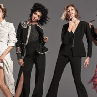 Neiman Marcus models posing in clothing