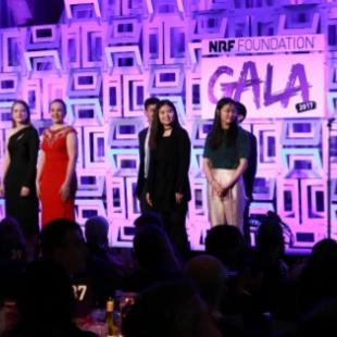Award recipients on stage at Gala 2017