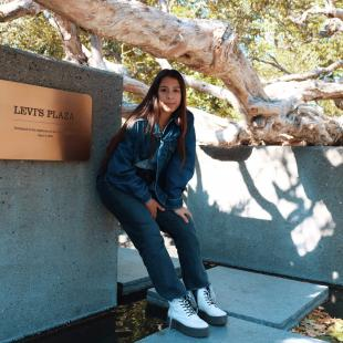 Faith Knox at her internship at Levi Strauss & Co.