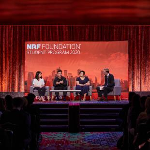 Panelists on stage at the 2020 NRF Foundation Student Program