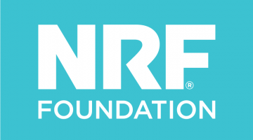 NRF Foundation white text on teal