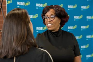 Geraldine Pitchford RISE Up Hiring Fair Attendee