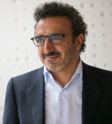 A headshot of Hamdi Ulukaya, the founer, chairman, an CEO of Chobani LLC
