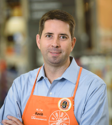 A headshot of Kevin Hofmann, the President, Online and Chief Marketing Officer of The Home Depot, in Home Depot