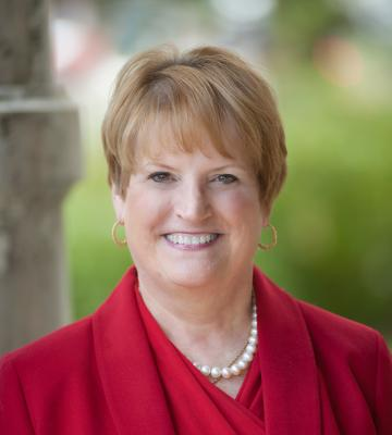 A Headshot of Lynn Marmer, the former group vice president for corporate affairs at The Kroger Co.