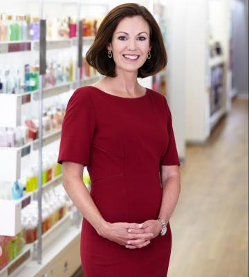 Mary Dillon, the CEO of Ulta Beauty, in one of her stores
