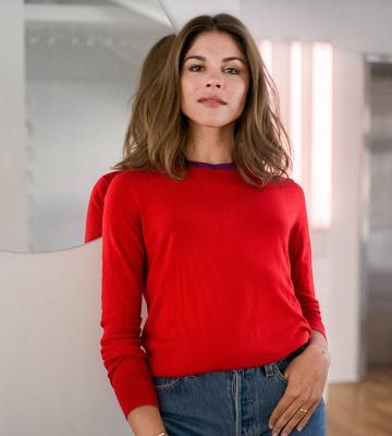 A headshot of Emily Weiss, the founder and CEO of Glossier