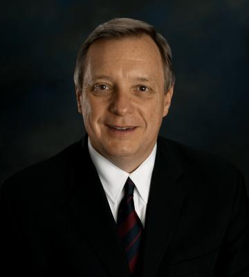 A headshot of the Honorable Richard J. Durbin, the 47th U.S. Senator from the State of Illinois