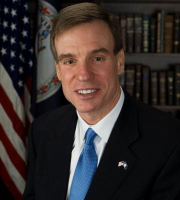 A headshot of The Honorable Mark Warner, the US Senator from the state of Virginia