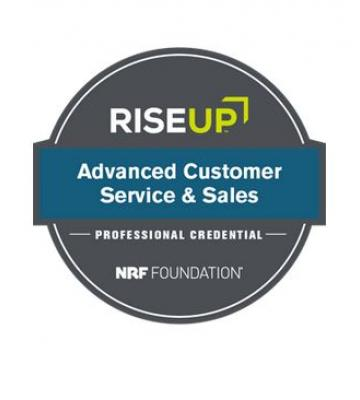 Advanced customer service and sales badge