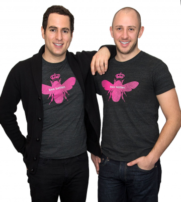 Dave Heath and Randy Goldberg, co-founders, Bombas, 2019 Givers