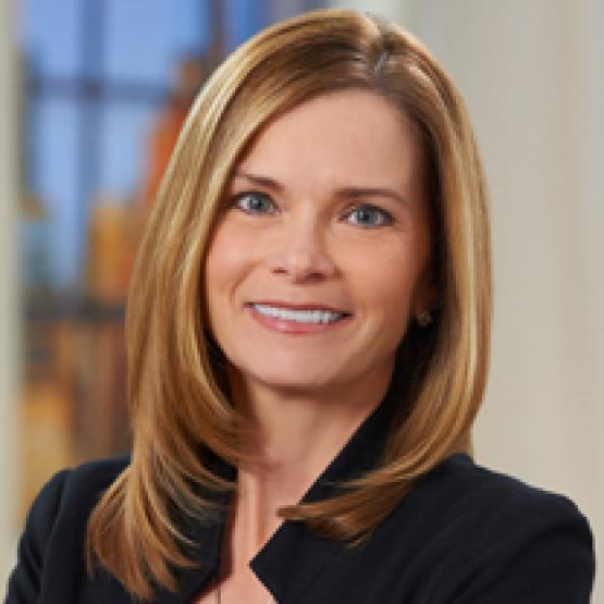 A headshot of mary Campbell, the executive vice president of commerce platforms at QVC, Inc.