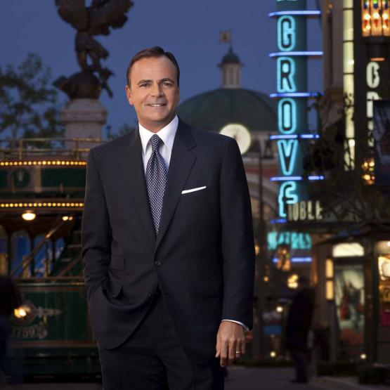 Rick J. Caruso, the founder and CEO of Caruso Affiliated, in The Grove, one of his properties