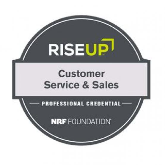 Customer service and sales badge