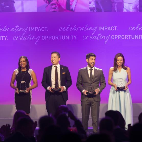 The List 2019 honorees on stage at the NRF Foundation Gala