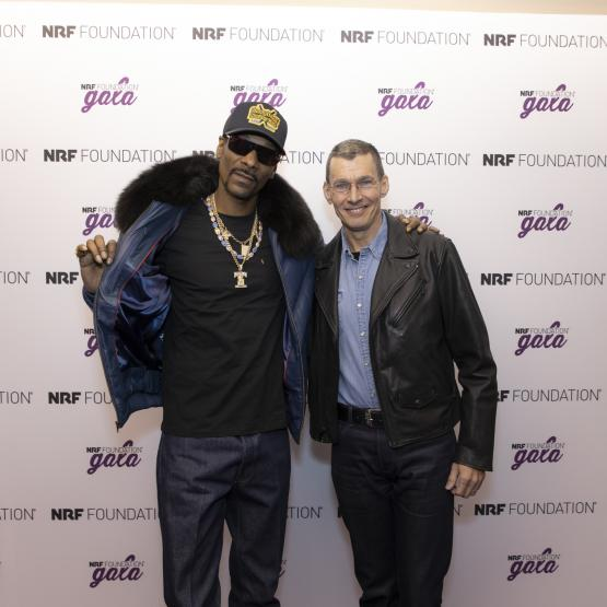 Snoop Dogg and LEvi Strauss CEO, Chip Bergh at the 5th annual NRF Foundation Gala