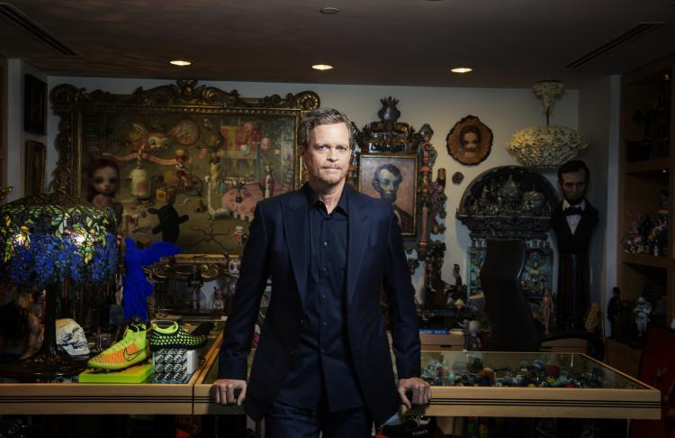 Mark Parker, Chairman, President and CEO of NIKE, in his office